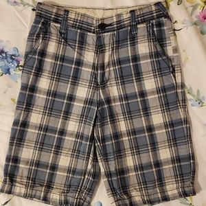Old navy boys shorts blue plaid